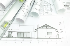 Lumeta Solar, Architectural blueprints of new home and building plans rolls, CA